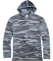 alternative apparel medium blue eco jersey hoodie pullover
