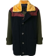 a.n.g.e.l.o. vintage cult 1980's sheepskin collar coat - blue