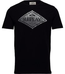 t-shirt t-shirts short-sleeved svart replay
