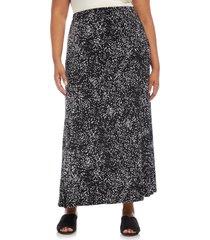 plus size women's karen kane flare skirt, size 0x - black