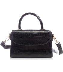 like dreams croc-embossed vegan leather top handle mini satchel