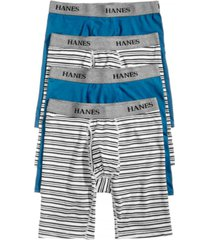 hanes men's 4-pk. platinum stretch long-line boxer briefs