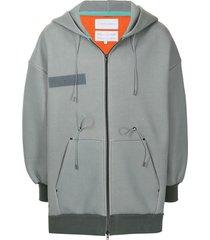 fumito ganryu drop-shoulder hooded jacket - green