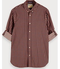scotch & soda geruit katoenen overhemd | regular fit