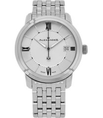 alexander watch a111b-04, stainless steel case on stainless steel bracelet