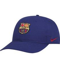 boné aba curva barcelona legacy 91 nike - strapback - adulto - azul escuro