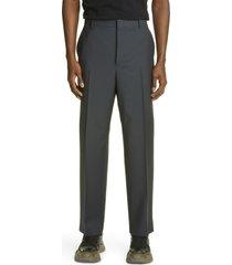 men's valentino pleated wool blend dress pants, size 46 - grey