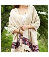 wool shawl, 'diamond tradition' (mexico)
