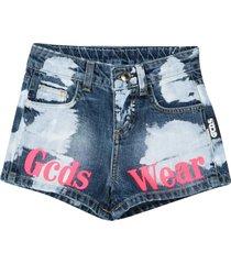 gcds mini denim shorts teen