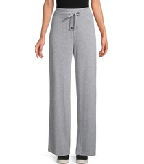 calvin klein women's wide-leg lounge pants - heather granite - size xl