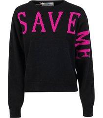 alberta ferretti save me back heart print sweater