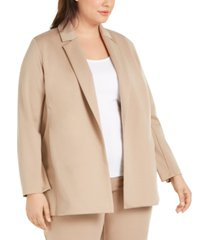 eileen fisher plus size notched-collar jacket