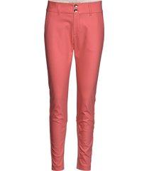 blake night pant sustainable pantalon met rechte pijpen roze mos mosh