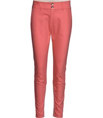 blake night pant sustainable pantalon met rechte pijpen roze mos mosh