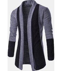 moda autunno inverno uomo cardigan pile in pile splicing colore spessi maglioni caldi alla moda
