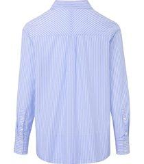 blouse met lange mouwen van bogner blauw