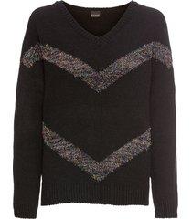 maglione con fasce glitterate (nero) - bodyflirt