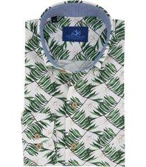 eden valley overhemd groen blad motief regular fit
