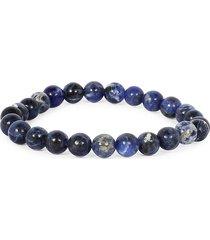 jean claude men's rare tanzanian sodalite bracelet - denim blue