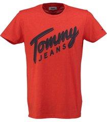 tommy hilfiger oranje t-shirt