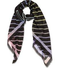 calvin klein ombre-striped logo scarf
