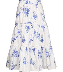 heart knälång kjol vit custommade