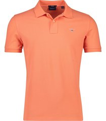 oranje poloshirt gant regular fit