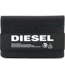 diesel denim travel wallet - black