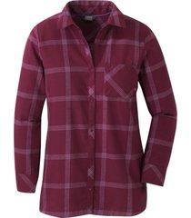 blusa cedar cove tunic morado outdoor research