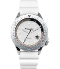 columbia men's pacific outlander white silicone watch 45mm