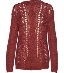 bella kass knit stickad tröja röd bruuns bazaar