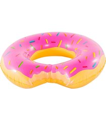 boia inflável gigante anel donut rosa belfix