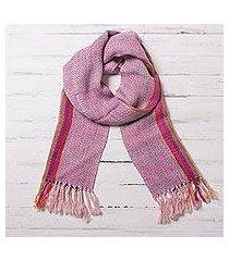 100% alpaca scarf, 'chevron jubilee' (peru)