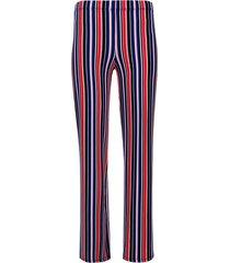 pantalón  rayas de colores color azul, talla 6