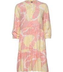 cushania leaf dress korte jurk roze culture