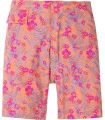 amir slama floral tactel swim shorts - orange