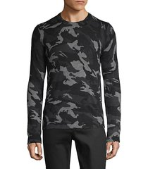 camouflage-print cashmere sweater