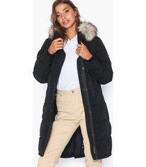 vila vicalifornia new down coat/su-noos parkasjackor svart
