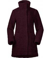 bergans jas women oslo wool loosefit zinfandel red mel-l