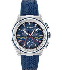 men's missoni m331 chronograph rubber strap watch, 44.5mm (nordstrom exclusive)