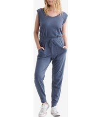 women's sleeveless utility-pocket jumpsuit