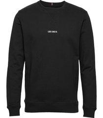 lens sweatshirt sweat-shirt tröja svart les deux
