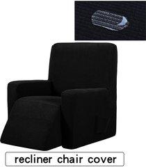 silla reclinable resistente al agua ala muebles sofá salón funda protector de la cubierta - negro