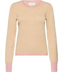 nuberry pullover stickad tröja rosa nümph