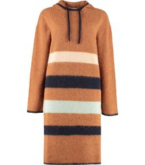 lanvin hooded sweater dress
