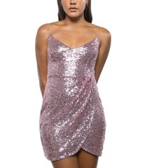 b darlin juniors' sequined bodycon dress