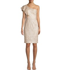 launch one-shoulder lace sheath dress