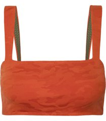 top rosa chá bloomy army beachwear laranja feminino (flame, gg)