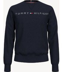 tommy hilfiger men's essential logo sweatshirt sky captain - xxl