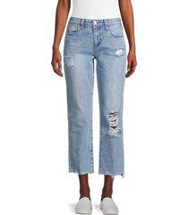joe's jeans women's the niki boyfriend frayed hem cropped jeans - parksville - size 26 (2-4)